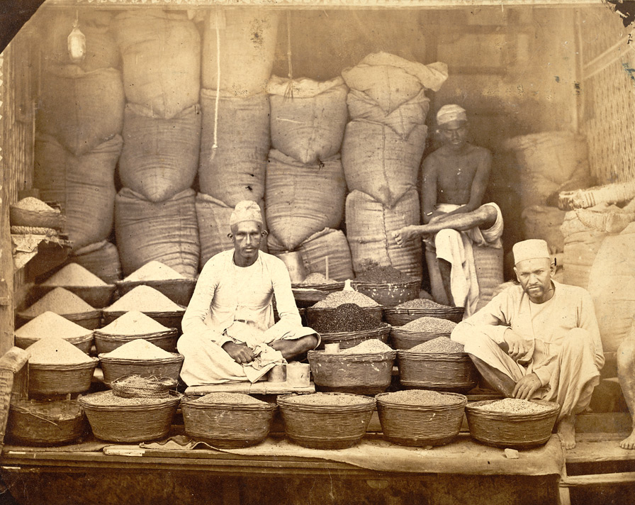 Grain sellers shop, (?)Bombay